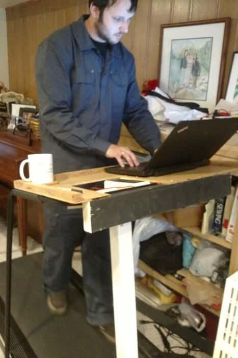 10. Walking DIY Treadmill Desk