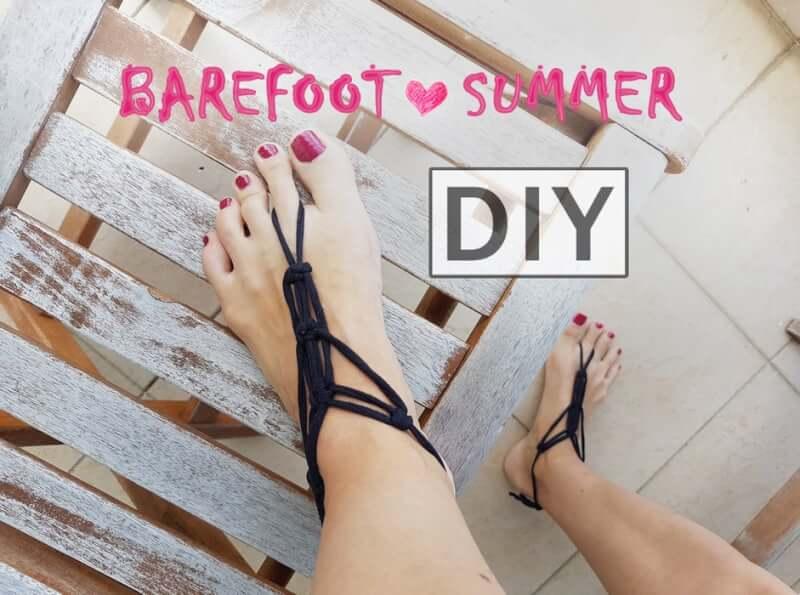 11. Barefoot Summer DIY sandals