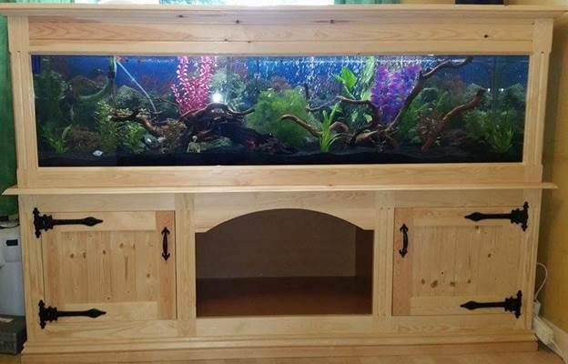 11. DIY Aquarium Wooden Pine Stand