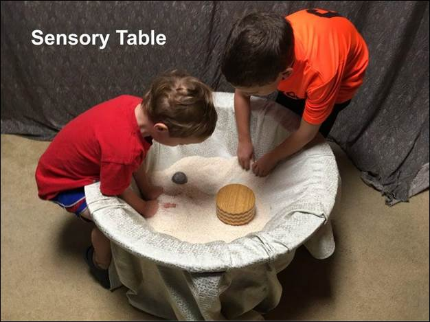 11. DIY Sensory Table From Old Coffee Table