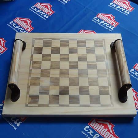 11. Laminated Pine DIY Chess Board