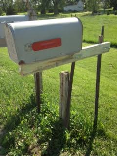 11. Rural DIY Mailbox Post