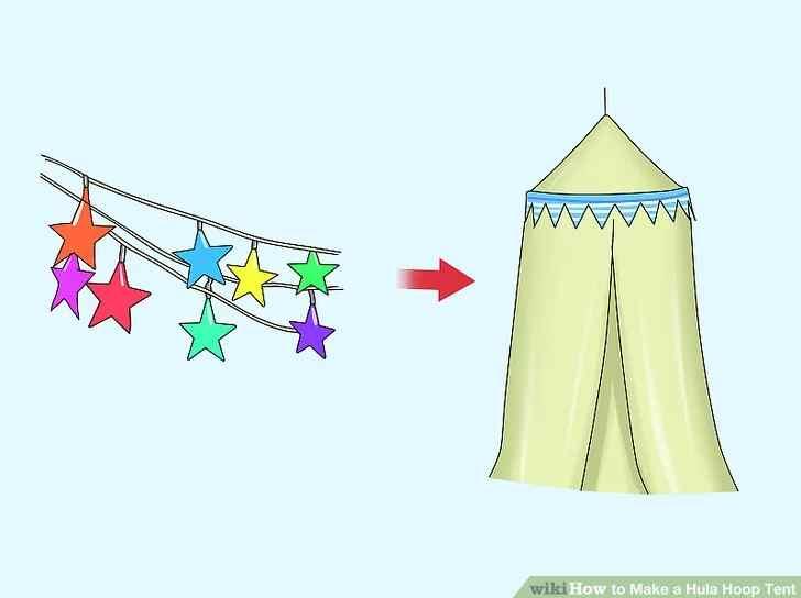 11.DIY Hula hoop tent