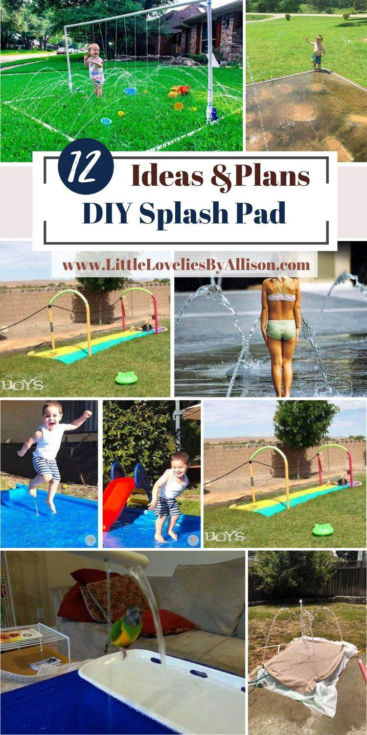 12 DIY Splash Pad Ideas To Build For The Kids