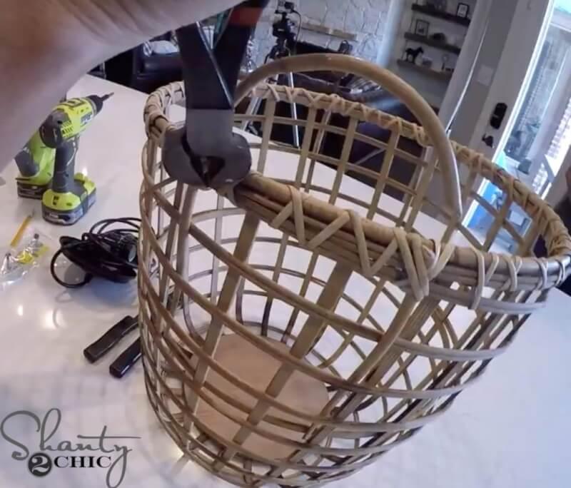 12. Chandelier DIY Basket