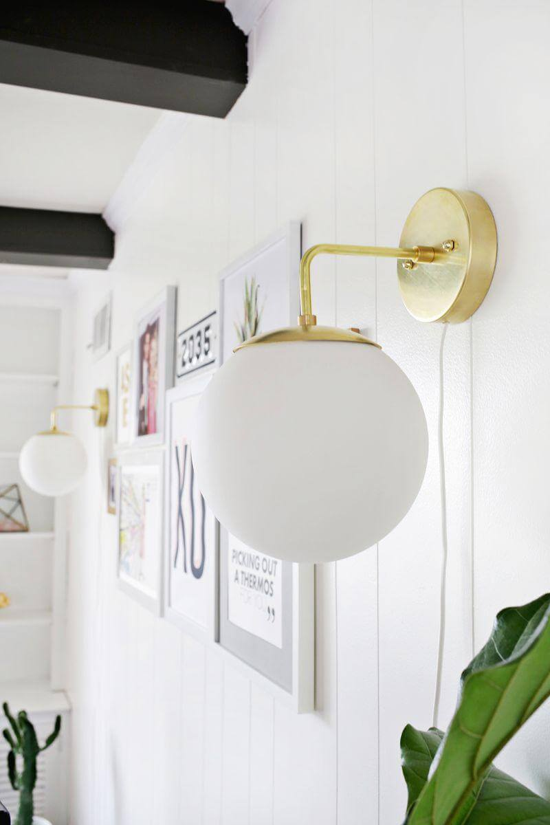 12. DIY Brass Globe Sconce