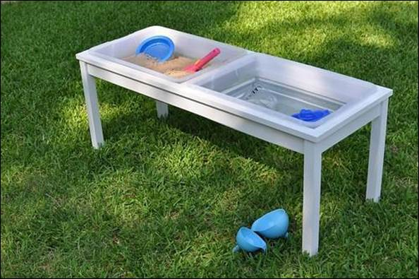 12. DIY Farmhouse Sand And Water Table