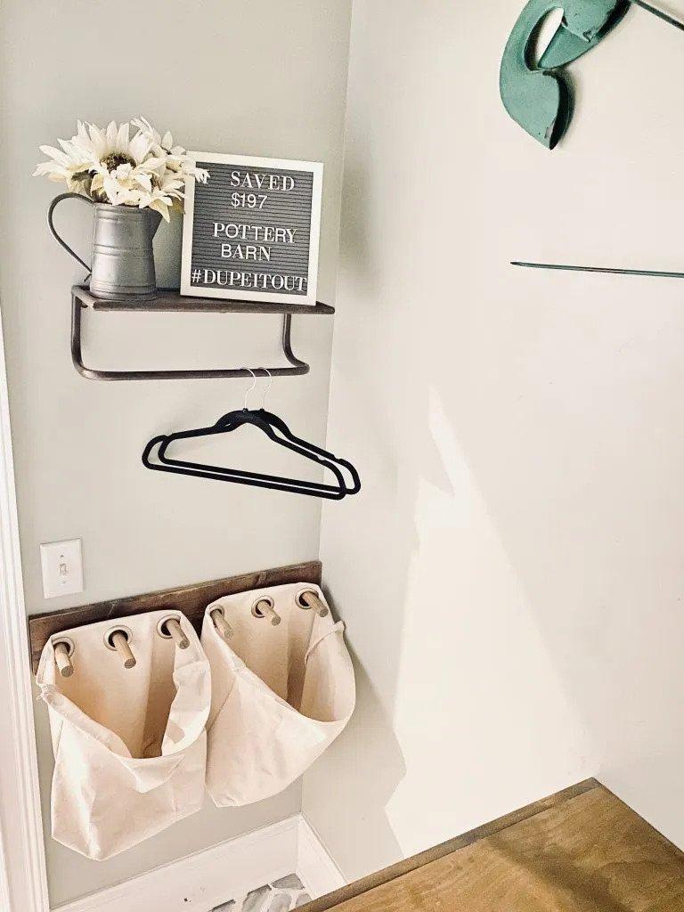 12. DIY Hanging Laundry Hamper