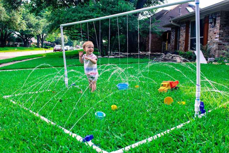 12. DIY PVC Splash Pad