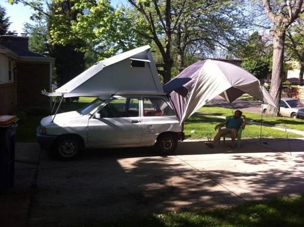 12. DIY Roof Top Tent