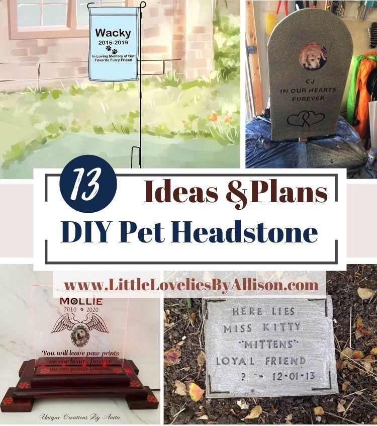 13 DIY Pet Headstone Ideas_ In Loving Memory Of Your Pet