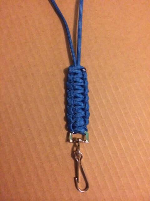 13. Basic Cobra Para Cord DIY Lanyard