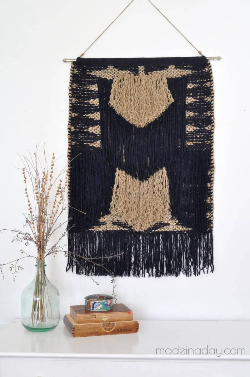 13. DIY Large Tapestry - No Weave