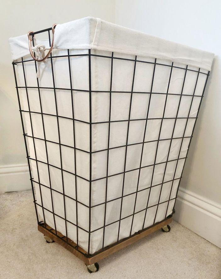 13. DIY Laundry Basket With Wheels