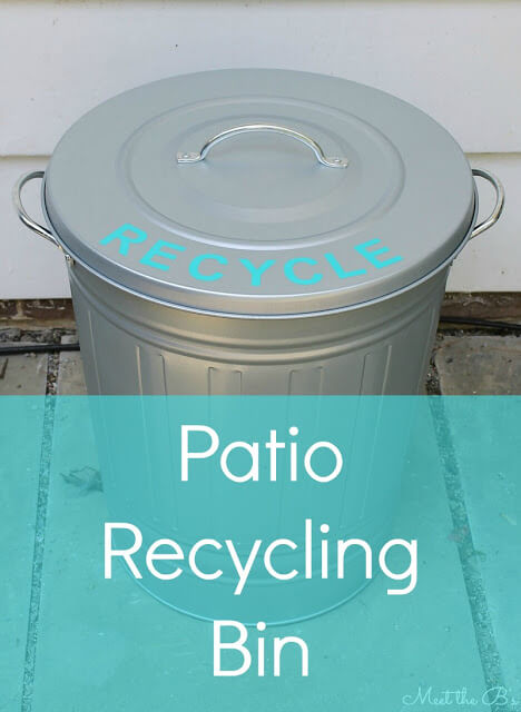 13. Patio recycling can