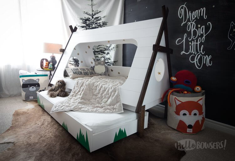 13. Teepee bed for kids