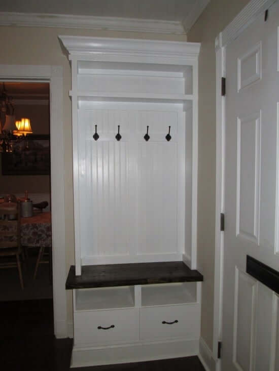 14. A small mudroom solution