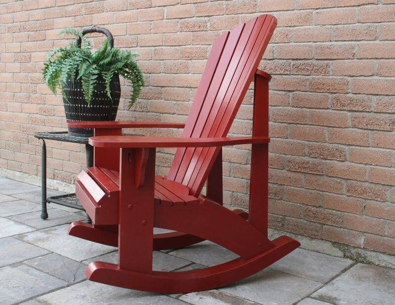 14. DIY Adirondack Rocking Chair