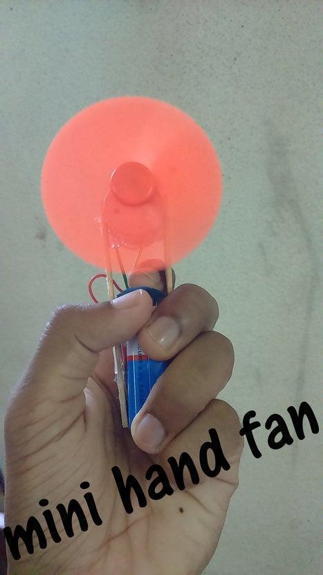 14. DIY Mini Electric Hand Fan
