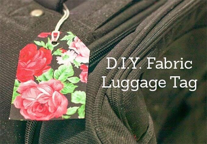 15. DIY Fabric Luggage Tag
