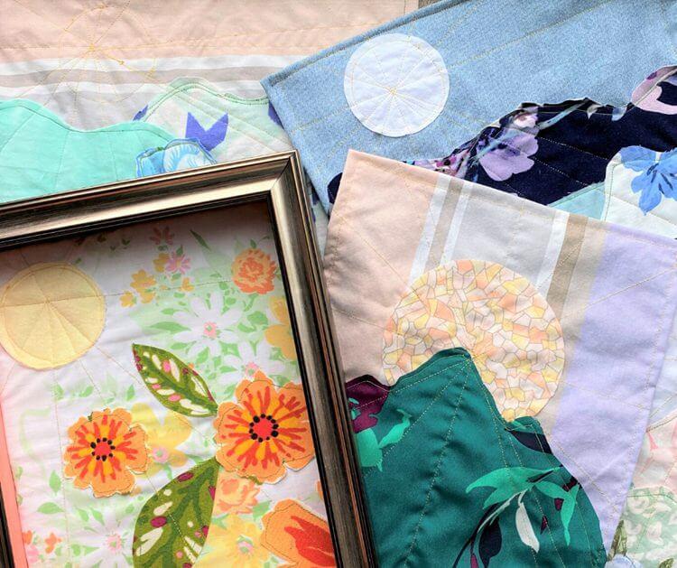 16. DIY Scrap Fabric Tapestry