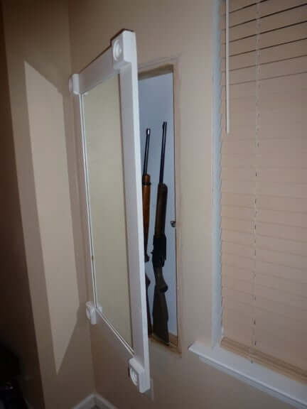 16. Hidden in Wall Gun Cabinet With Hidden Keypad