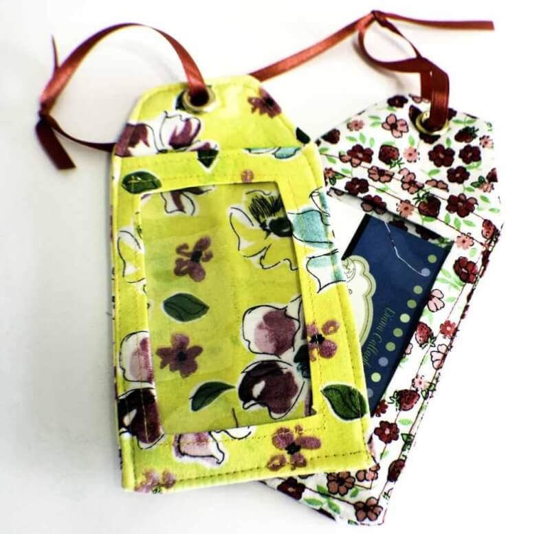 16. How To Sew DIY Luggage Tags