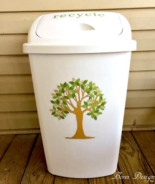 16. Tree Image on a Trash can