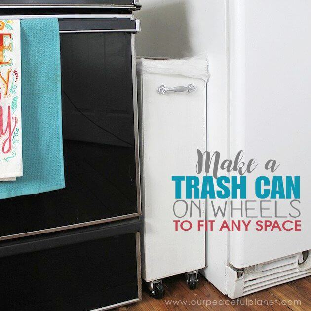 17. A trash can that can fit anywhere