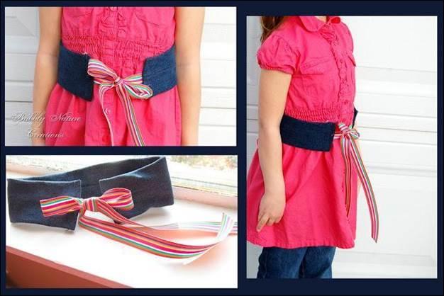 17. DIY Denim Ribbon Belt