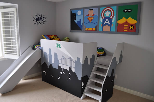 17. Super Hero themed bed