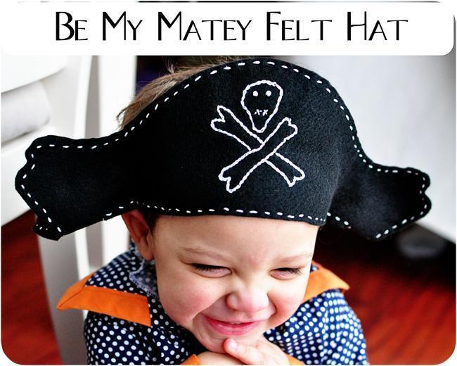 18. DIY Felt Pirate Hat