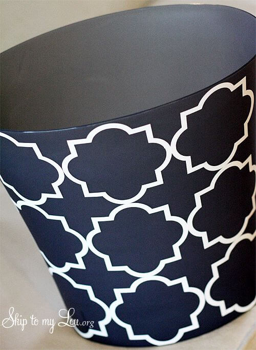 18. Decorated Trash can