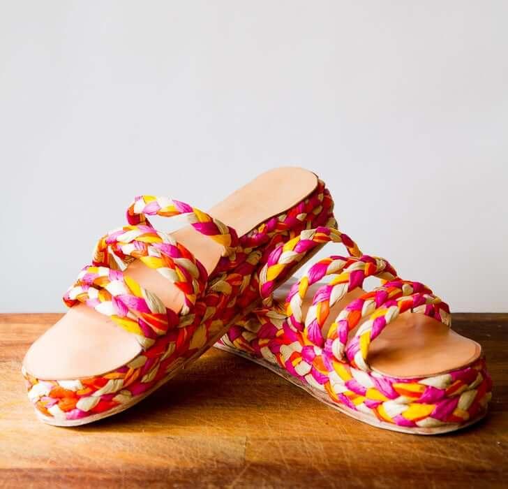 18. Raffia Sandals DIY