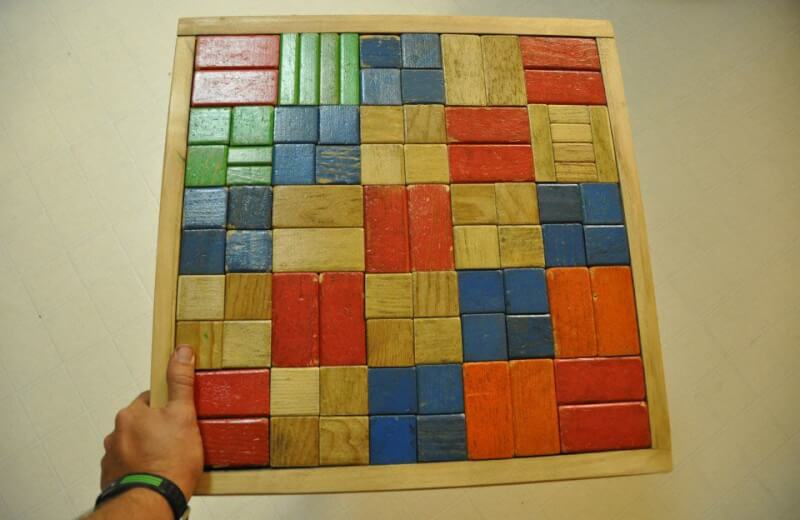 18. Wooden Building Block Table Top DIY