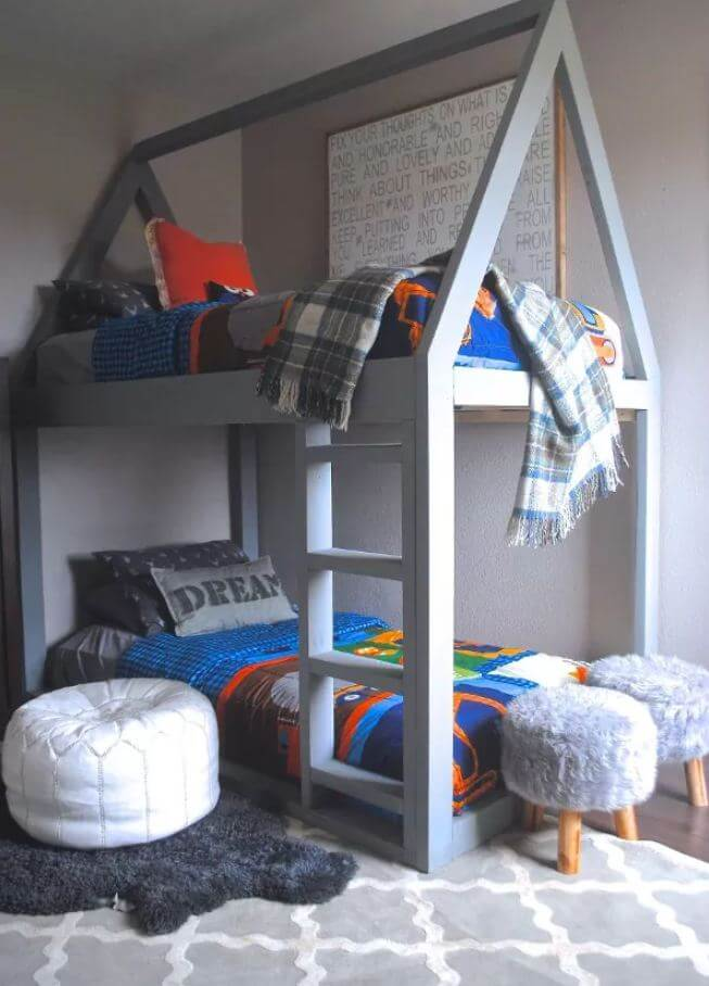 19. A house bunk bed