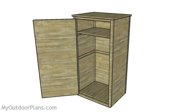 19. DIY Gun cabinet by outdoor plans