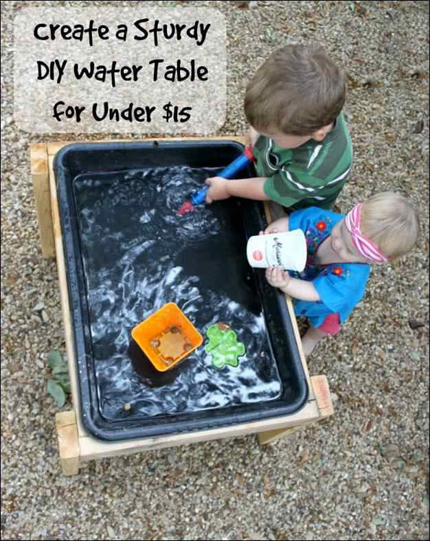 19. Low Budget Water Table DIY