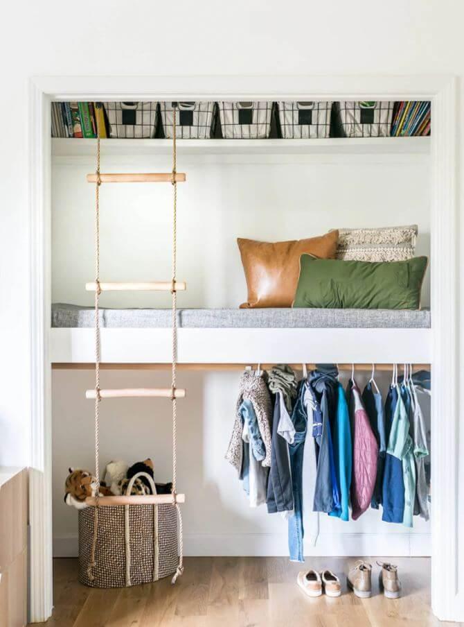 2. Closet Bed