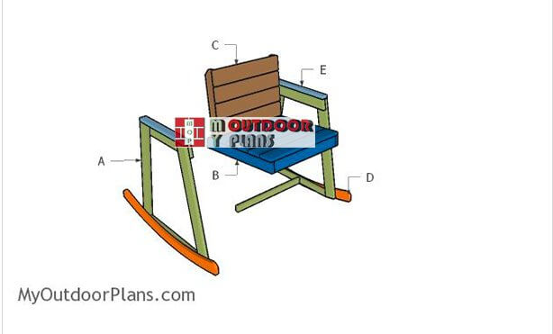 2. Rocking Chair Plans