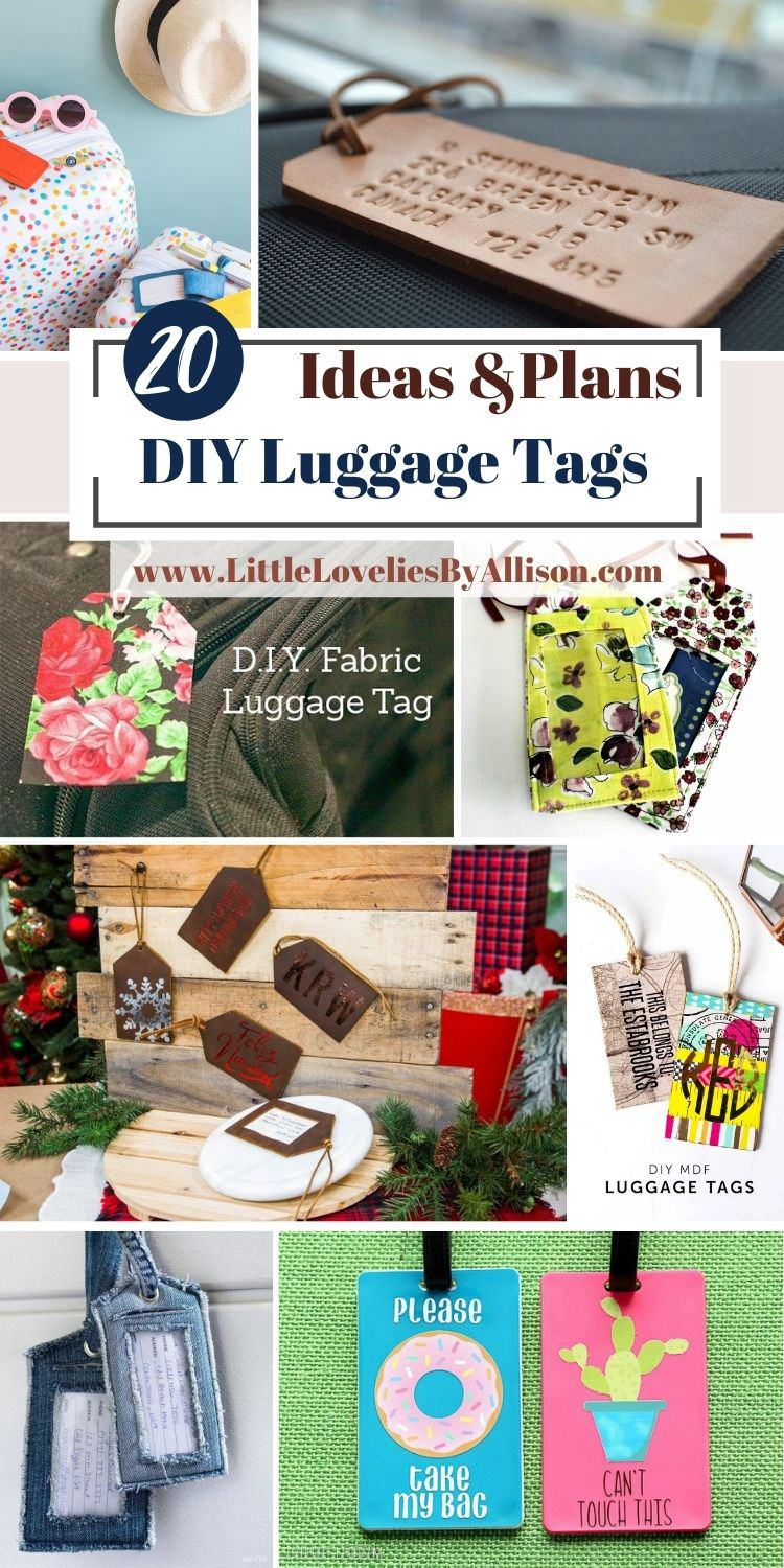 20 DIY Luggage Tags Ideas For Travellers