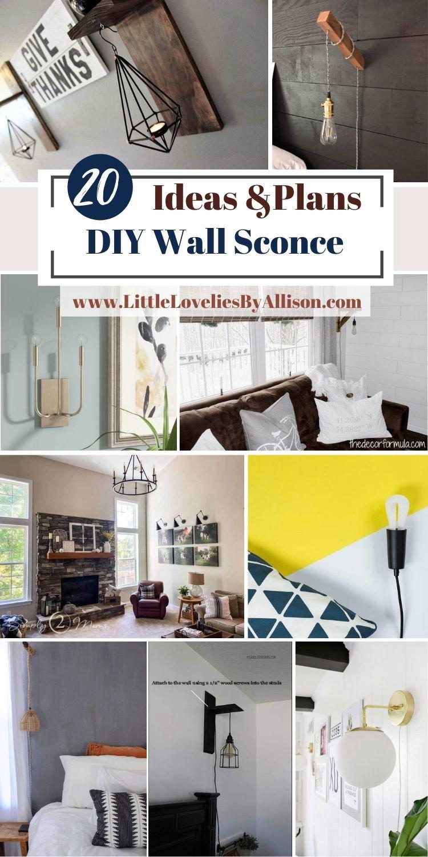 20 DIY Wall Sconce Ideas For Home Decor