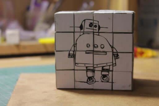 20. Concrete Cube Puzzle DIY