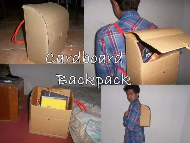 20. DIY Cardboard Backpack