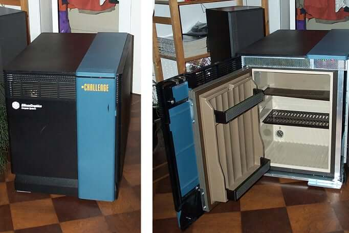 20. DIY Conversion of a Faulty Server to a Fridge.