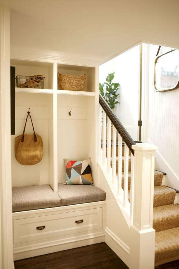 20. Mudroom at the bottom of the stairs