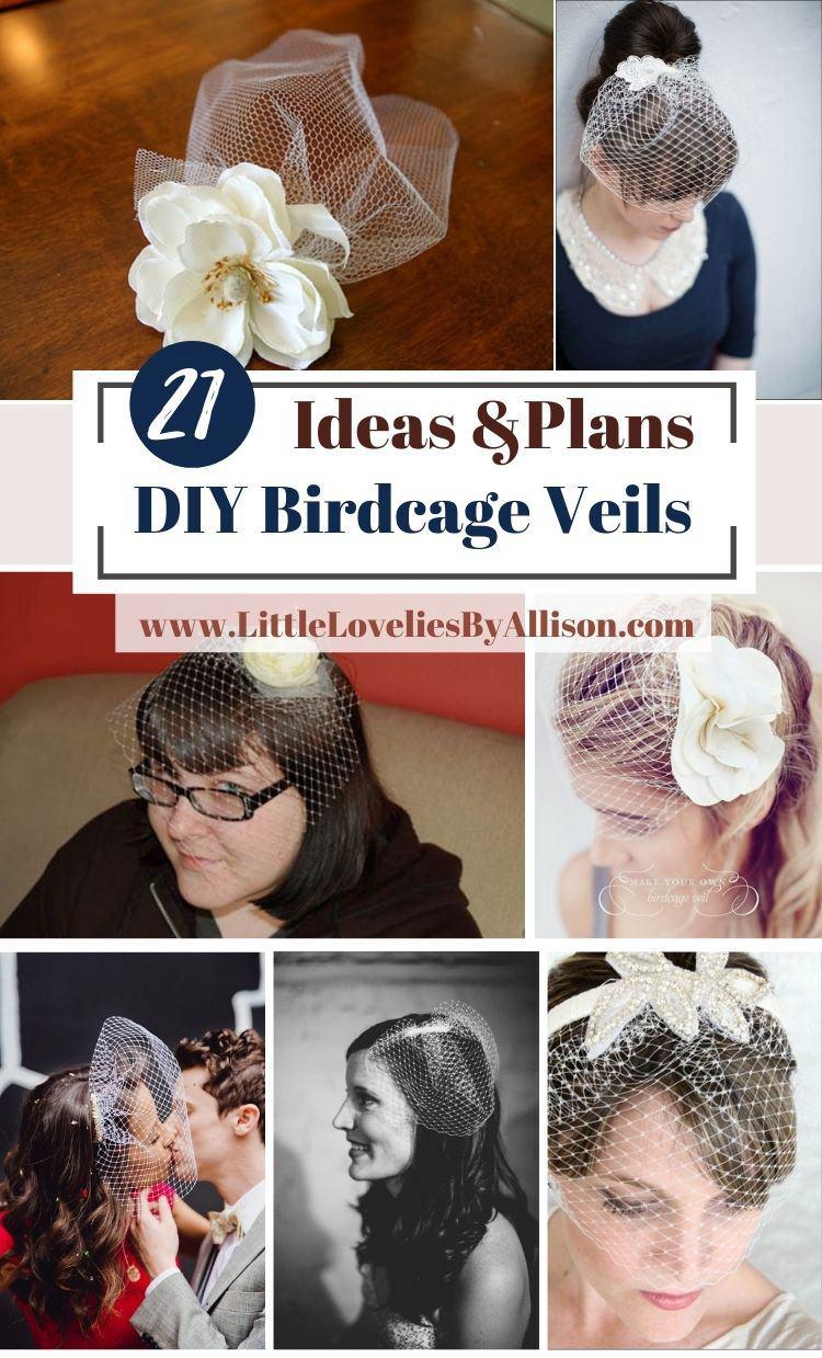 21 DIY Birdcage Veils That Brides Will Love