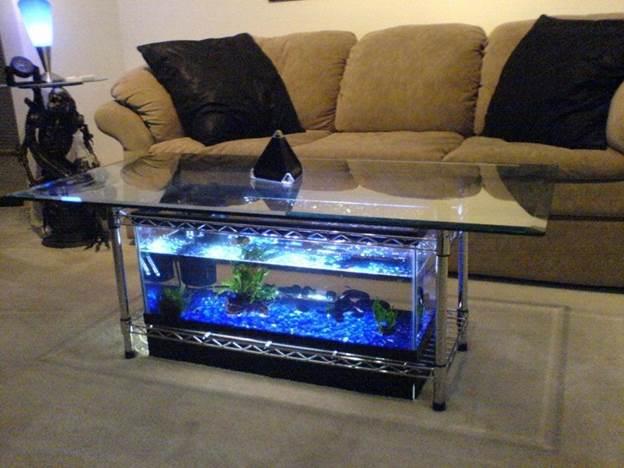 21. DIY Aquarium Coffee Table