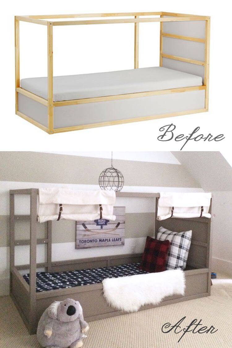 24. Bed with an Ikea Styled bed