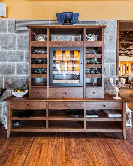 24. DIY Bookshelf and Liquor Cabinet Combined.